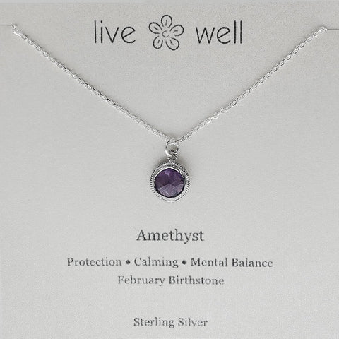 Petite Faceted Amethyst Gemstone Necklace