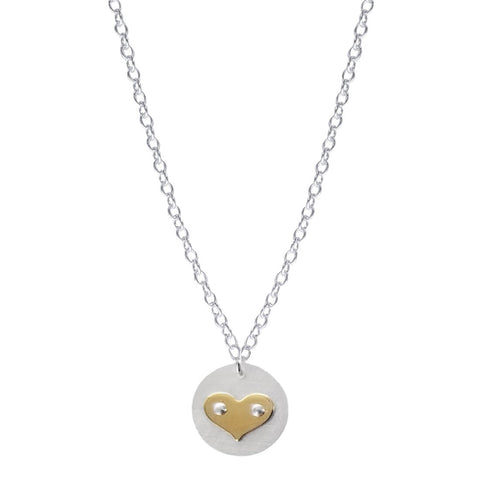 Zina Kao Petite Round Loving Heart Necklace