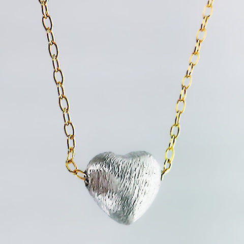 Zina Kao Petite Rounded Heart Necklace