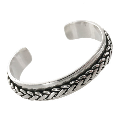 Phillipe Audibert Braided Classic Silver Cuff