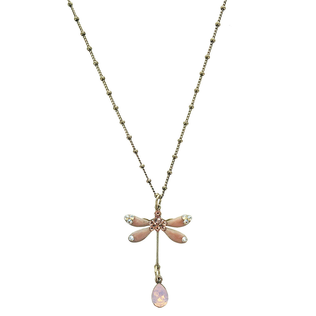 crystal pink vm opal necklace index silver vamoon point jewellery