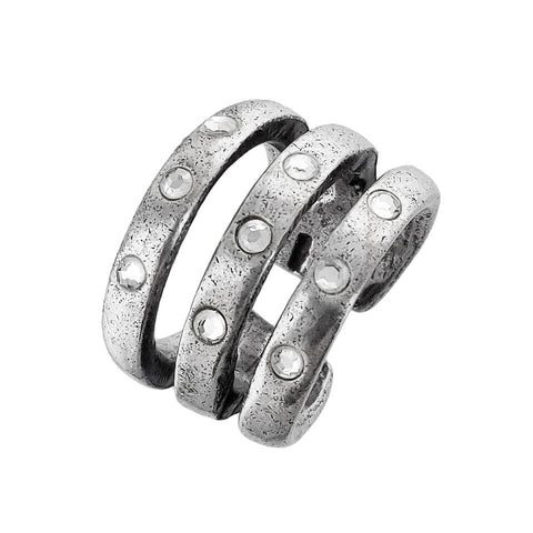 Cyclope Triple Band Swarovski Liane Ring