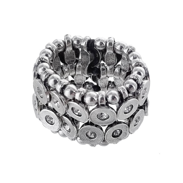 Metal Pointus Strass Sequin GM Strass Ring