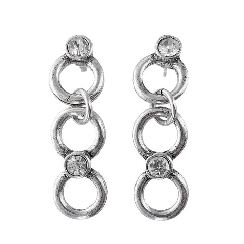 Cyclope Circles CZ Tease Post Earrings