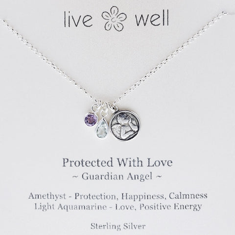 Protected With Love Guardian Angel Necklace