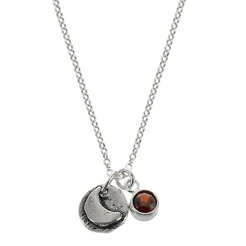 Reach For The Moon  Necklace  Front