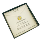 Reach For The Moon Land Among Stars Necklace In Gift Box