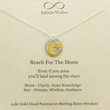 Reach For The Moon Necklace On Gift Card