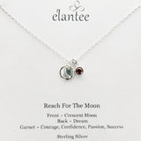 Reach For The Moon Inspirational Charm Necklace