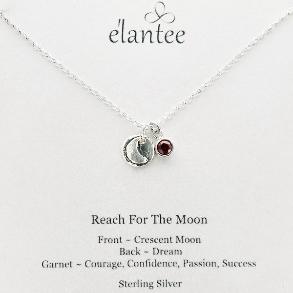 Reach For The Moon Charm Necklace On Card