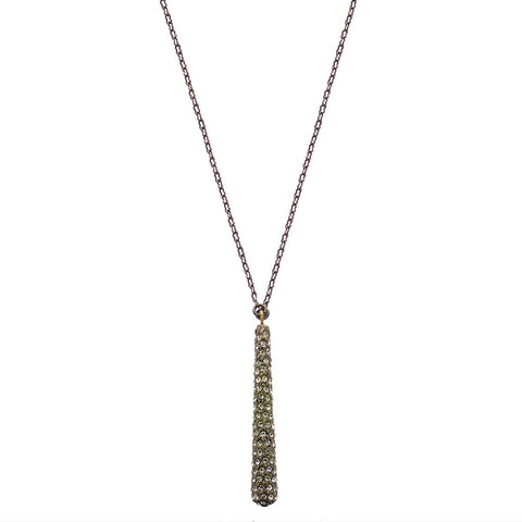 Rebel Designs Long Chain Black Diamond Pestle Necklace