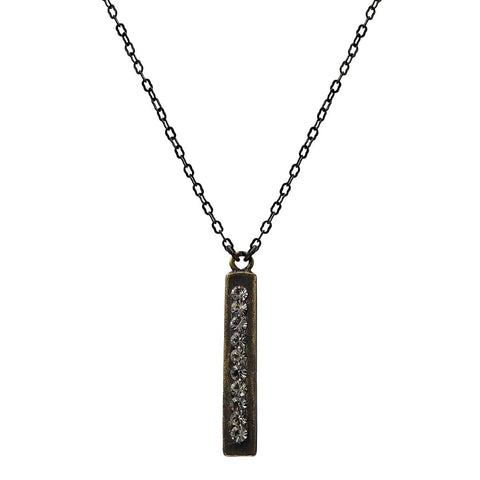Rebel Designs Double Sided Crystal Bar Necklace