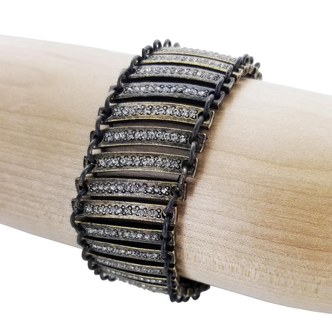 Rebel Designs Flexible Bar Bridge Leather Bracelet