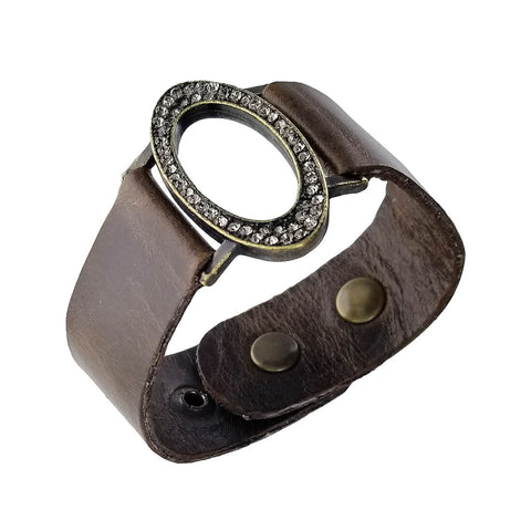 Rebel Designs Graceful Oval Leather Bracelet
