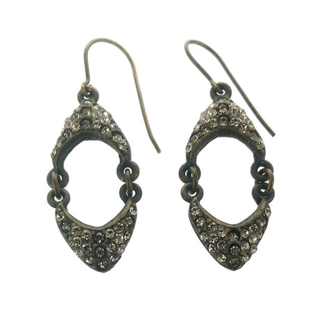Rebel Designs Hinged Crystal Earrings