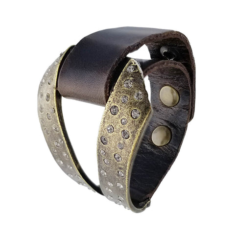 Rebel Designs Ribbon Leather Bracelet