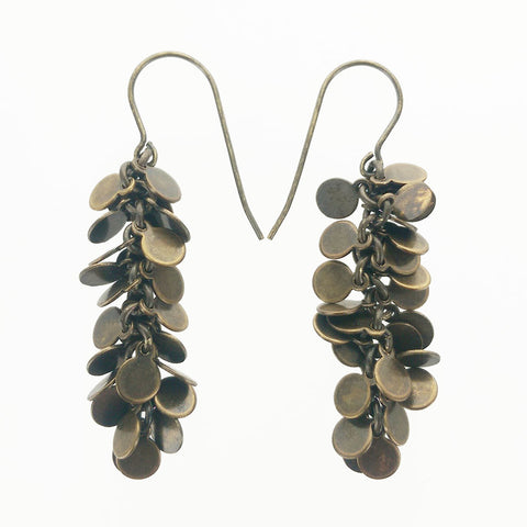 Rebel Cascading Disc Cluster Earrings