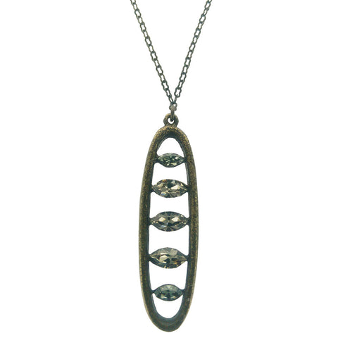 Rebel Designs Oval Five Crystal Necklace