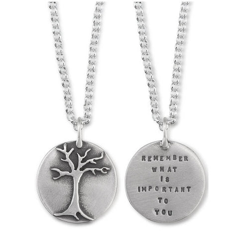 """Remember What Is Important To You"" Necklace"