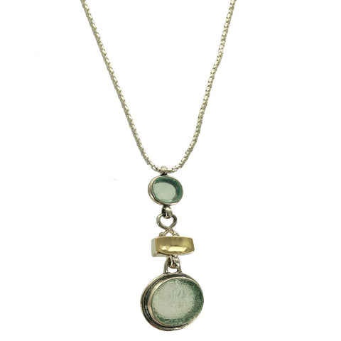 Roman Glass Ithil Sterling Gold Necklace