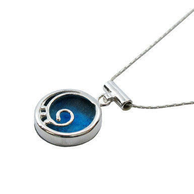 Roman Glass Spiral Pendant Necklace
