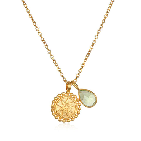 Satya Mandala August Birthstone Necklace