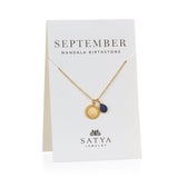 Satya Mandala September Birthstone Necklace On Card