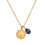 Satya Mandala September Birthstone Necklace