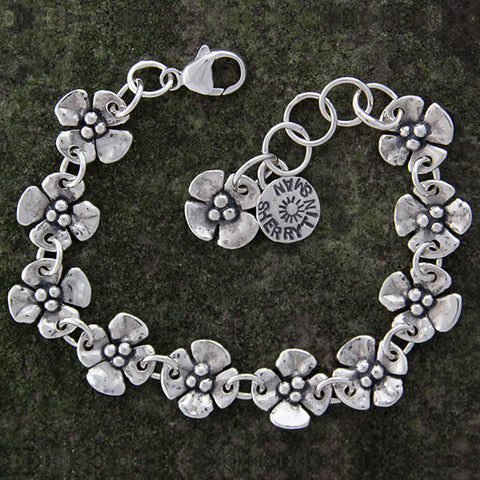 Sherry Tinsman Ten Dogwood Flowers Bracelet