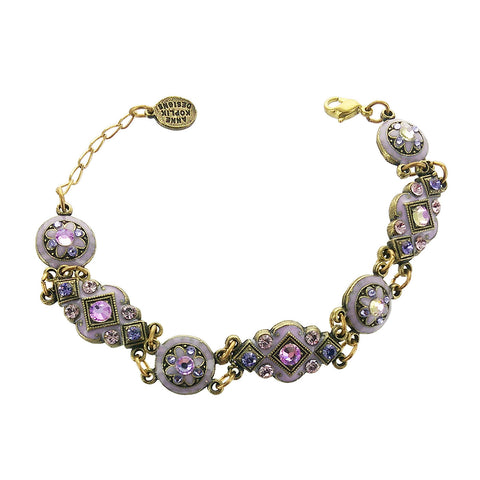 Shades Of Purple Crystal Bracelet