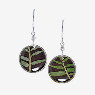 Shari Dixon Mini Round Bamboo Earrings