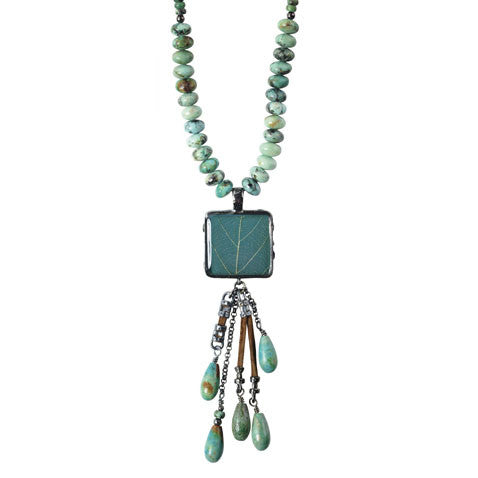 Shari Dixon Damiana Oak Shower Drop Necklace
