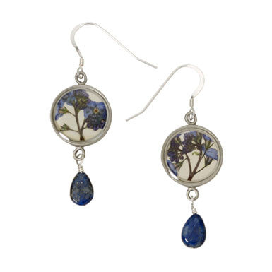 Shari Dixon Forget Me Not Drop Round Earrings
