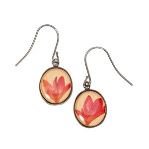 Shari Dixon Pink Cornflower Earrings