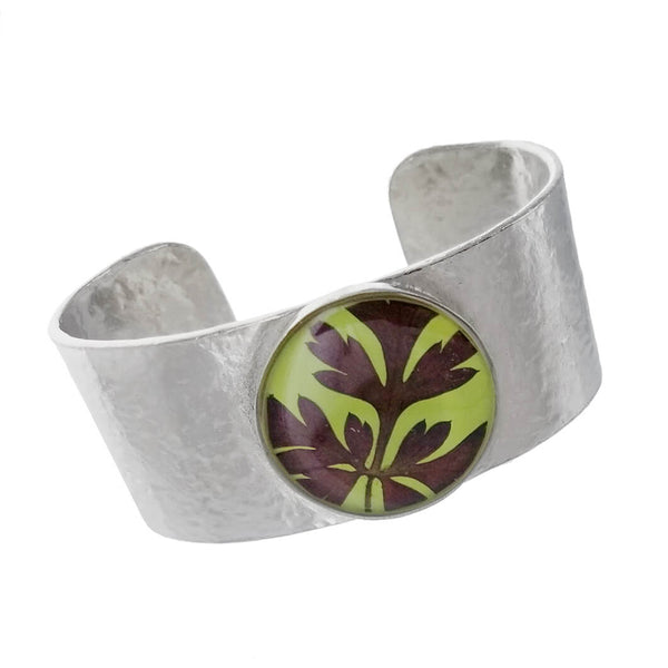 Shari Dixon Red Fern Over Green Cuff