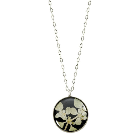 Shari Dixon Silver Leaf Flower Necklace