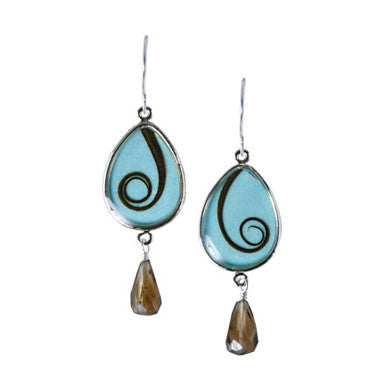 Shari Dixon Sago Palm Tear Drop Earrings