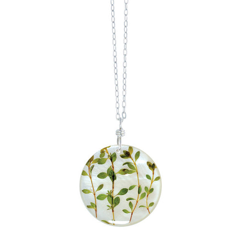 Shari Dixon Round Pendant Thyme Necklace