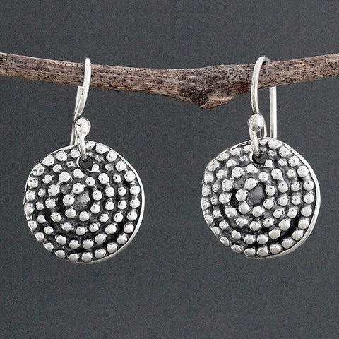 Sherry Tinsman Beaded Spiral Earrings