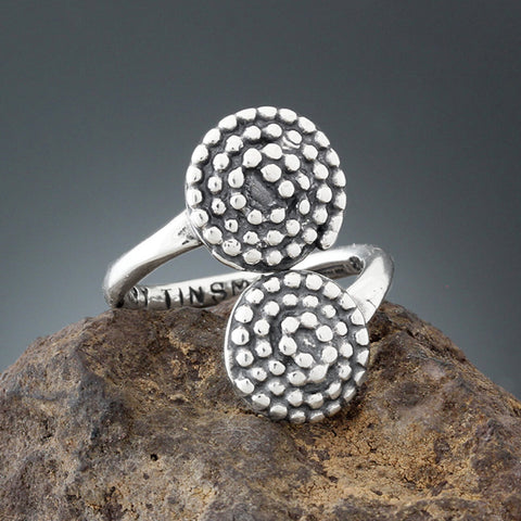 Sherry Tinsman Beaded Spirals Flair Ring