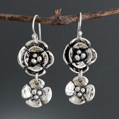Sherry Tinsman Small Dogwood Double Dogwood Earrings