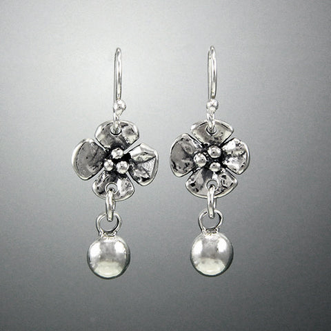 Sherry Tinsman Dogwood Flower & Silver Drop