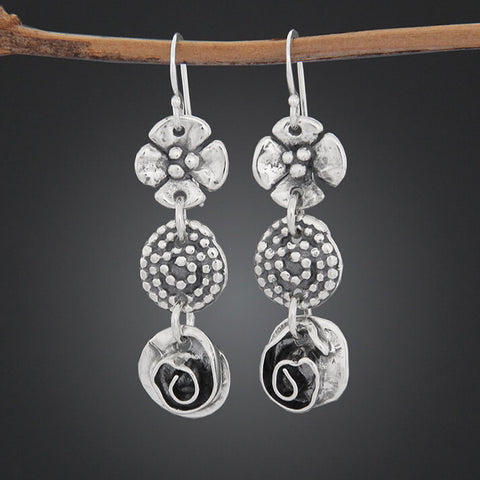 Sherry Tinsman Dogwood Spiral Rose Earrings