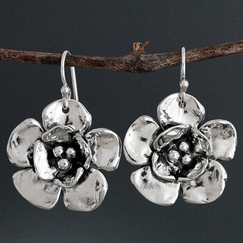 Sherry Tinsman Double Dogwood Flower Earrings