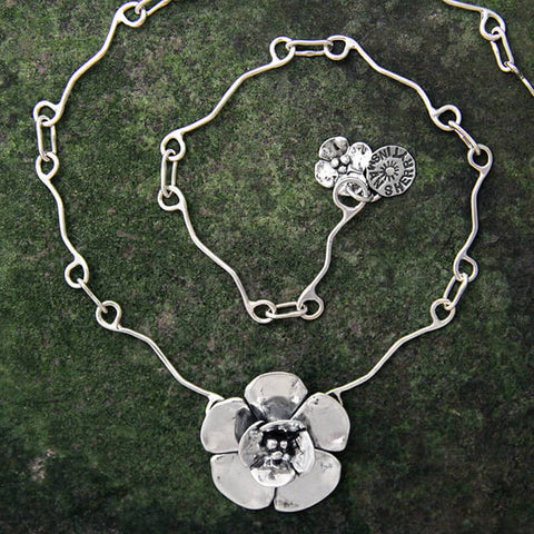 Sherry Tinsman Double Dogwood Flower Necklace