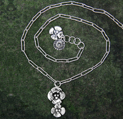 Sherry Tinsman Double Dogwood Single Dogwood Necklace