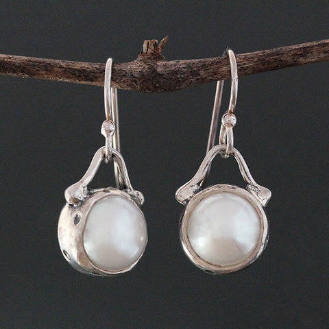Sherry Tinsman Sterling Silver Freshwater Pearl Earrings