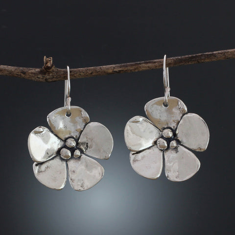 Sherry Tinsman Five Petal Flower Earrings