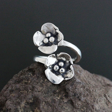 Sherry Tinsman Two Dogwoods Flair Ring