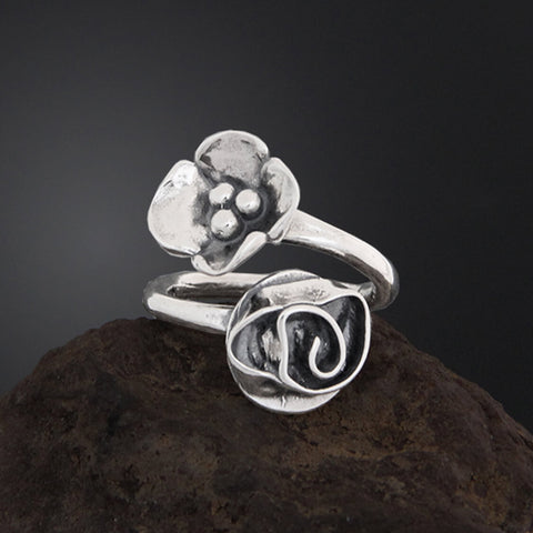 Sherry Tinsman Flair Ring Rose Dogwood Ring